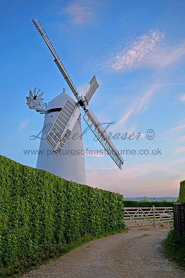 SP140 Stone Cross Windmill at Sunset