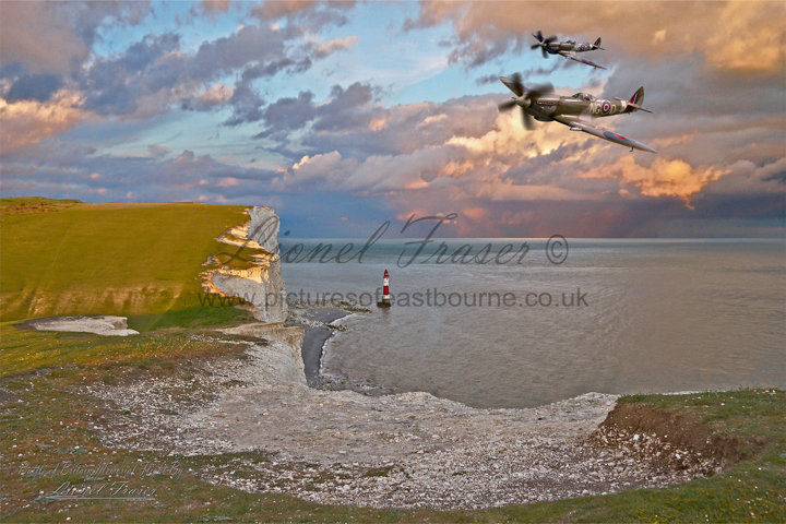 411 Two Spitfires over Beachy Head