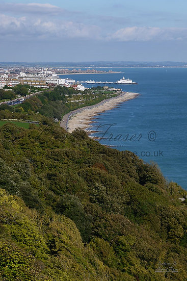 160A5 View over Eastbourne From Holywell