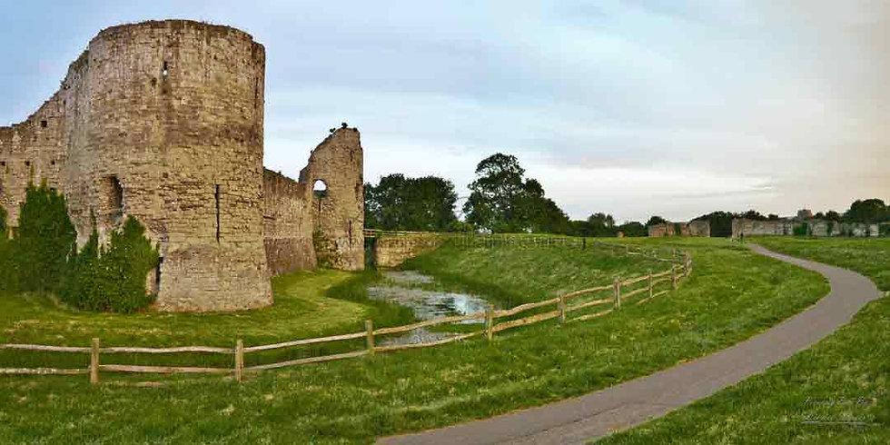 230E Pevensey Castle Panorama