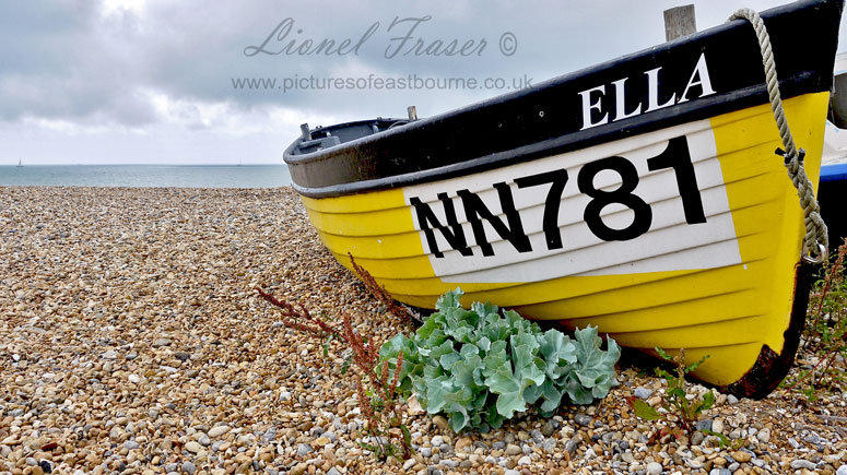 151F Fishing Boat on Eastbourne Beach