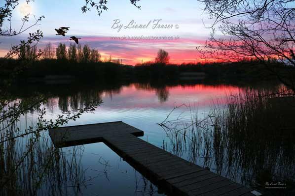 246A1 Shinewater Lake Sunset