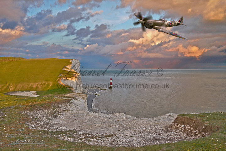 412 Spitfire over Beachy Head