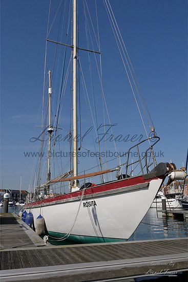 151A Cutter Sail Boat in Eastbourne Harbour