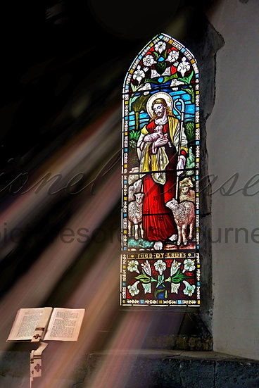 127 Jevington Church Stain Glass Window
