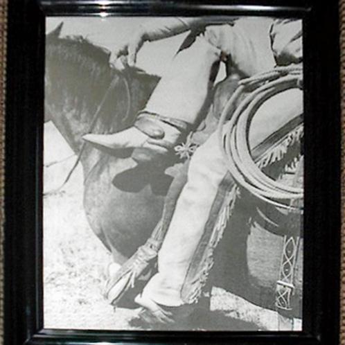 8x10 Framed Cowboy