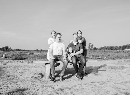 Familie fotoshoot in de Loonse en Drunense duinen