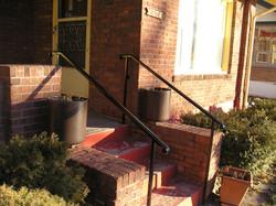 Black stair railing 2 posts