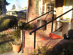 Two post two black stair railing
