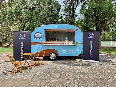 Little Happy Hut Coffee and Event Caravan, Mazda Drive Event