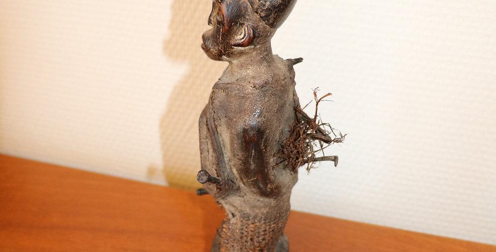 CONGO, KONGO, fétiche NKISI, bois et fer, 22,5 cm