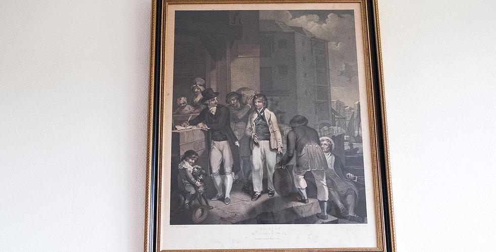 Gravure 1 de MORLAND et SINGLETON, 1800, 80 x 60 cm