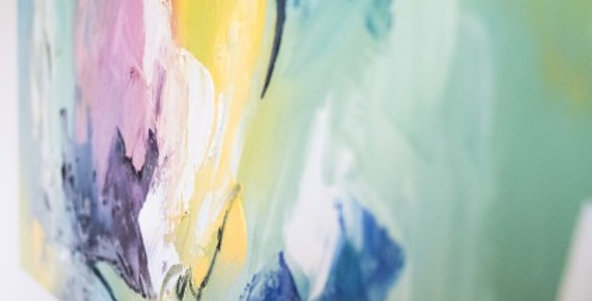"""HST, Tilly WILS, """"Au Printemps"""", 100 x 100 cm"""