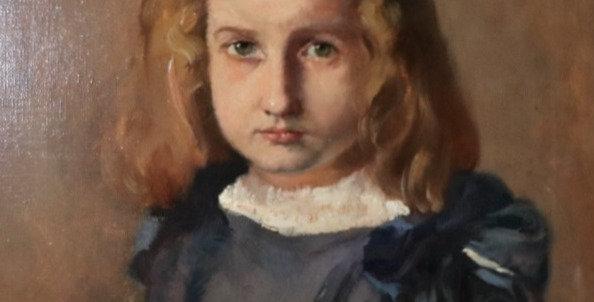 """HST Max MOREAU (1902-1992), """"Petite fille sage"""", 1924, 60 x 50 cm"""