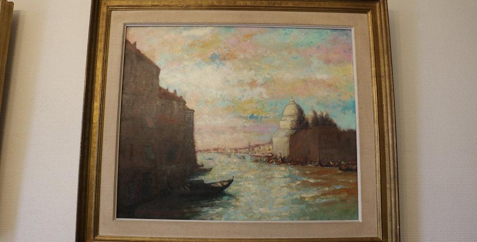 "HST Maurice DE MEYER (1911-1999), ""Venise"", 49 x 59 cm"