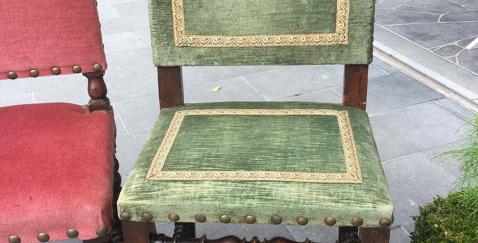 2 chaises, style Henri IV
