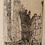 """Thumbnail: Gravure Jean DONNAY (1897-1992), """"Le Chanteur des Rues-Rouen"""", 40 x 20 cm"""