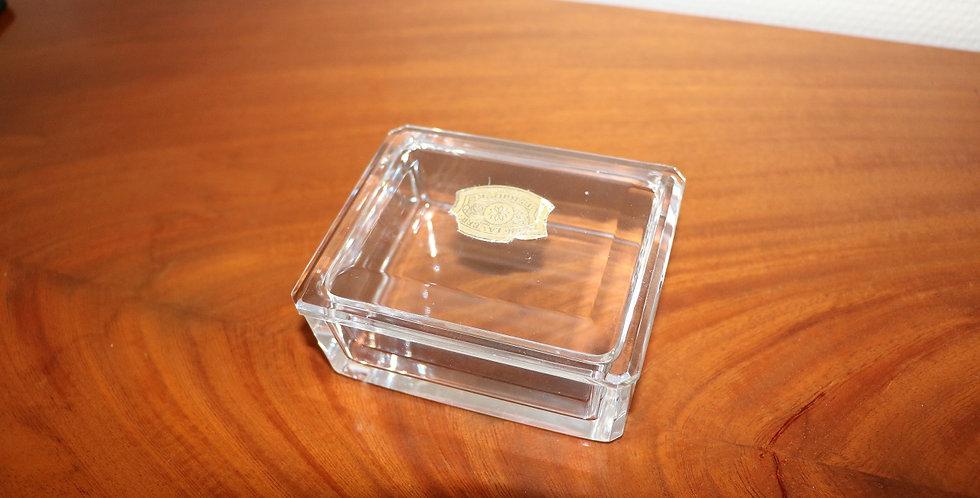 Boîte en cristal du Val St Lambert, 11 x 9 x 5 cm