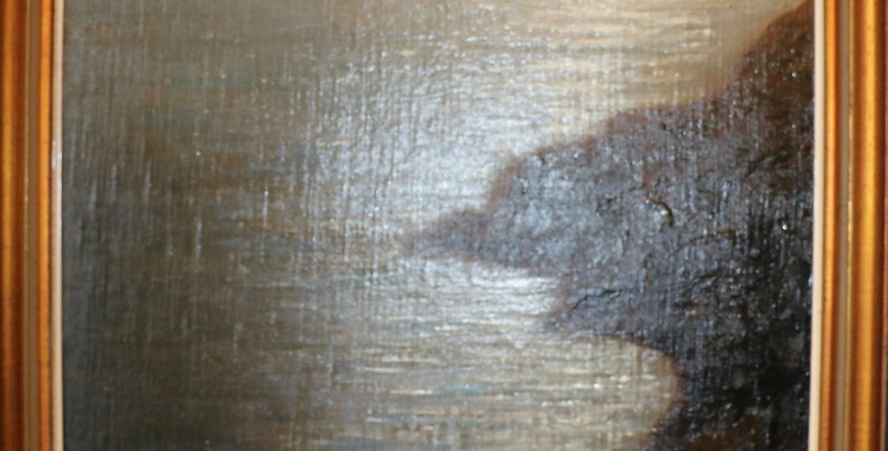 """HSP Dieudonné JACOBS (1887-1967), """"Crépuscule sur Toulon"""", 60 x 50 cm"""