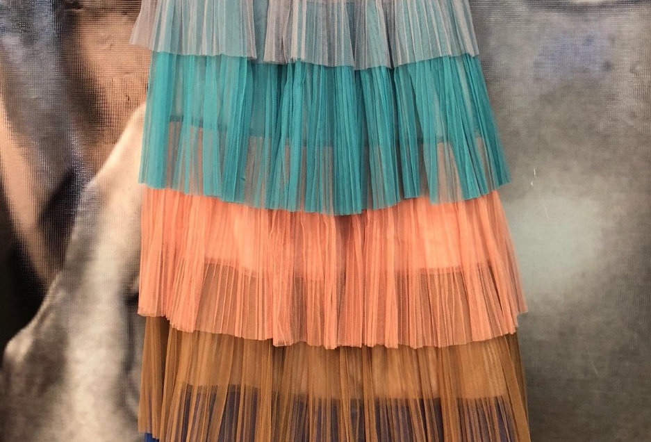 Multicolor Frill Skirt