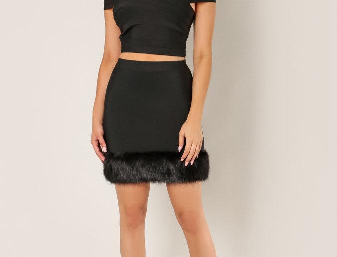 Bandage Black Skirt