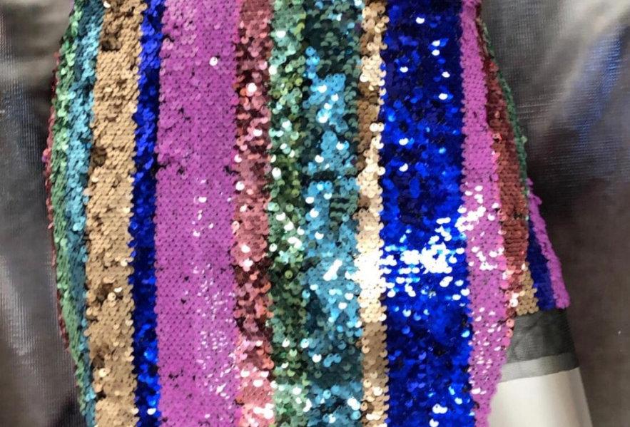 Sequin Multicolor Mini Skirt