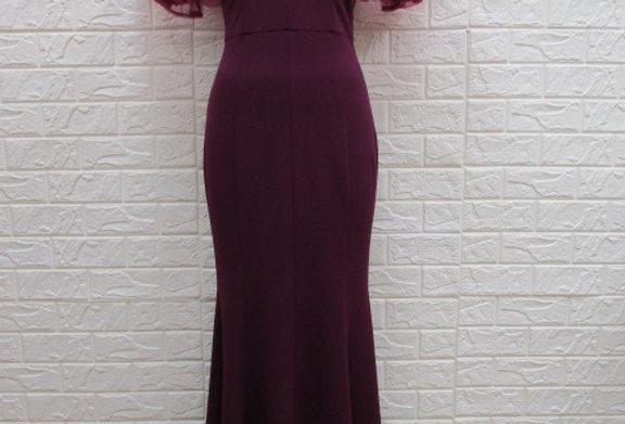 Berry Long Dress