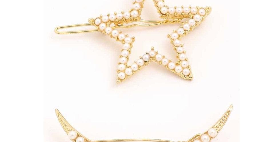 Pearls Hair Brooch