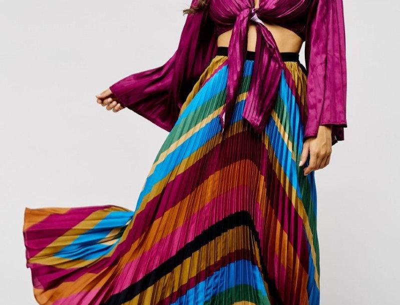 Multicolor Skirt Set