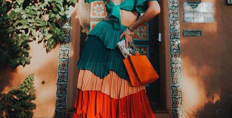 Colorful Skirt Set