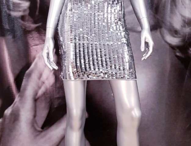 Silver Party Minidress