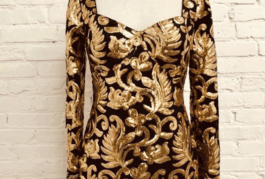 Sequins Sleeve Dress