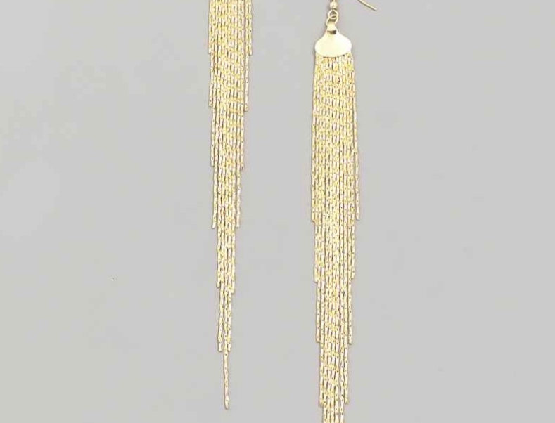 Gold Chains Earrings