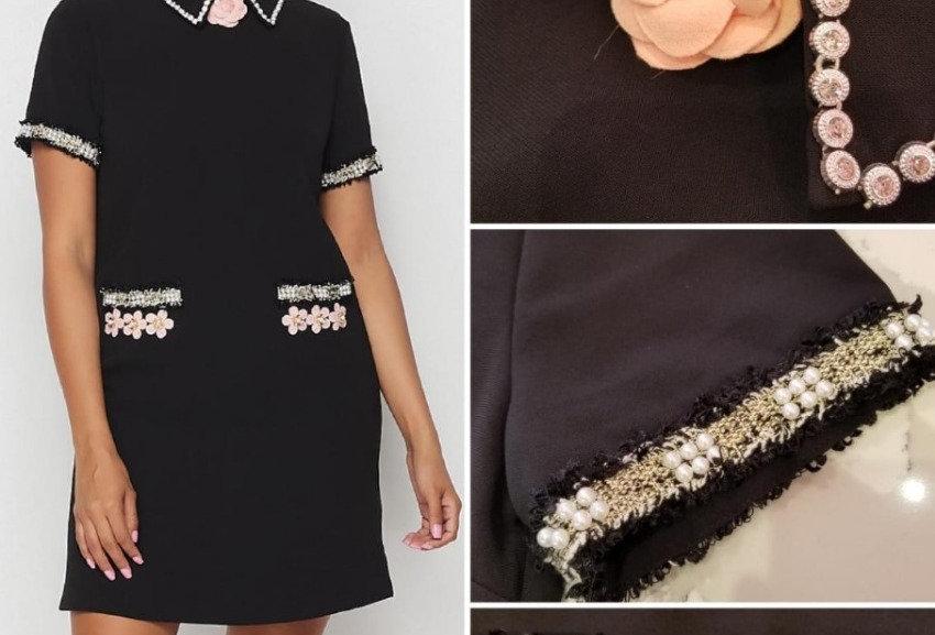 Flowes Details Mini Dress