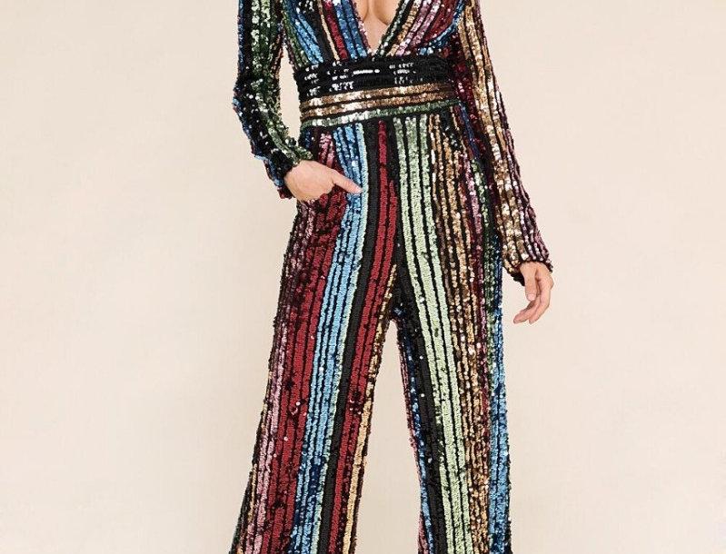 Multicolor Sequins Jumpsuit