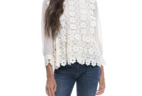 Flower Nude Blouse