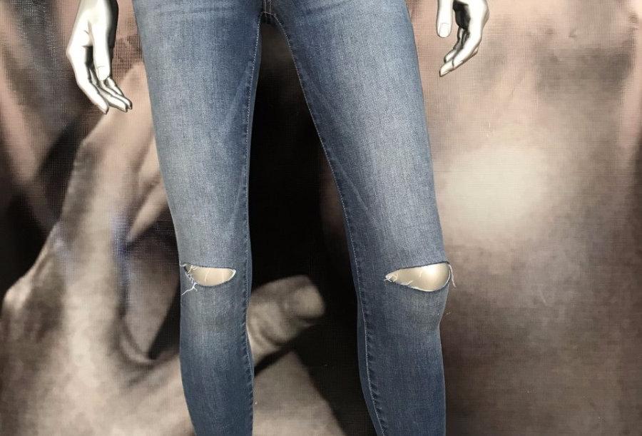 Denim Open Knees Jeans