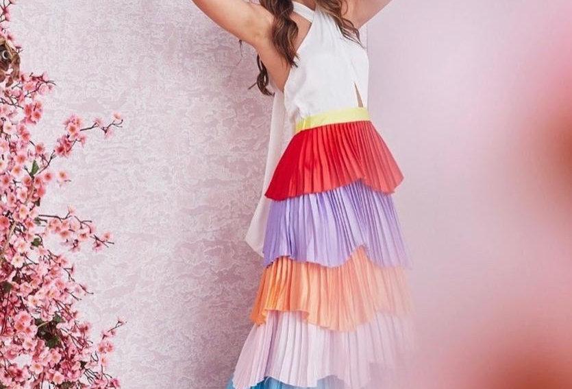 Multicolor Ruffle Dress