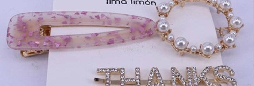 Pink Hair Pin Set