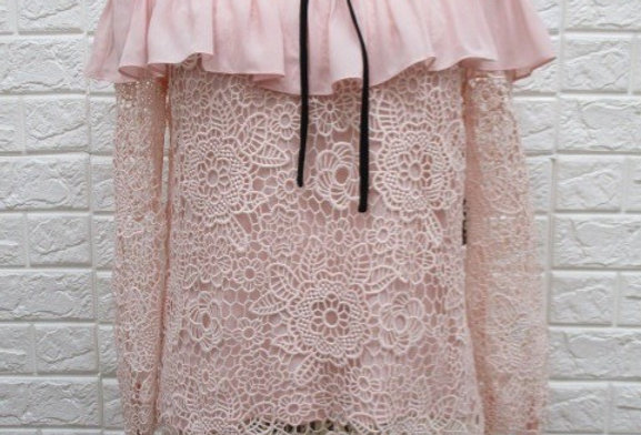 Blush Lace Blouse