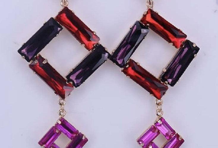Multicolor Stones Earrings