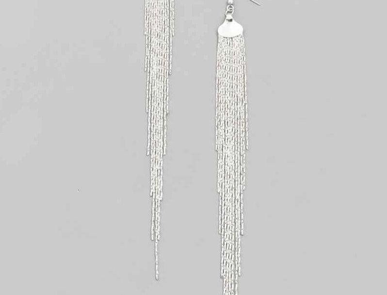 Silver Chains Earrings