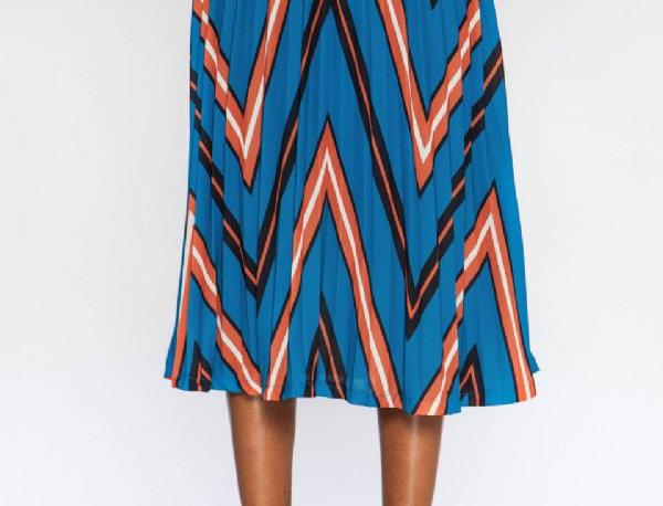 Multicolor Zig-Zag Lines Skirt