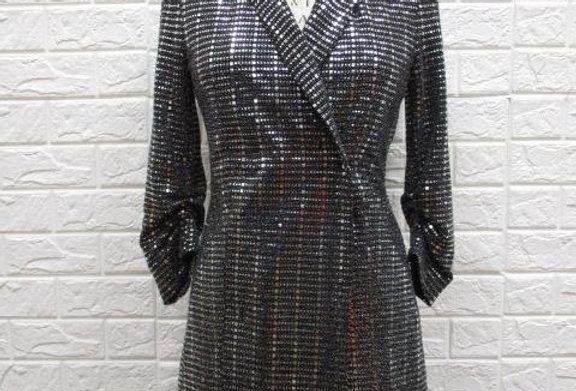Silver Sleeve Dress