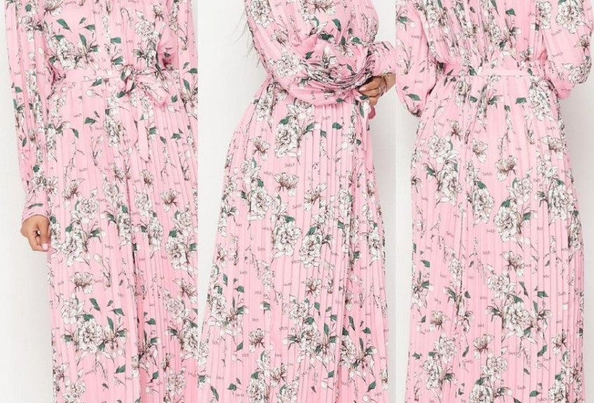 Flower Print Rose Dress