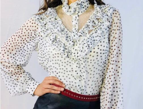 White Dots Blouse