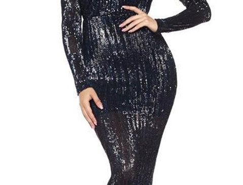 Off Shoulder Sequins Dress