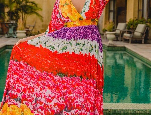 Flores Print Dress