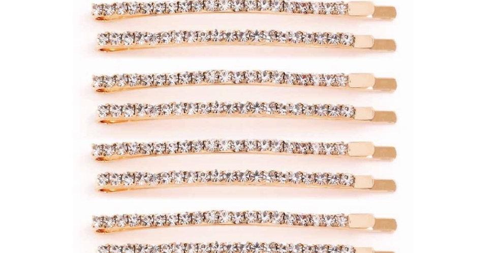 Crystals Gold Pin Set