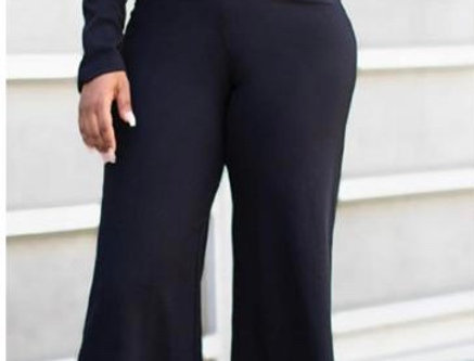 Black Jumpsuit Bell Pants